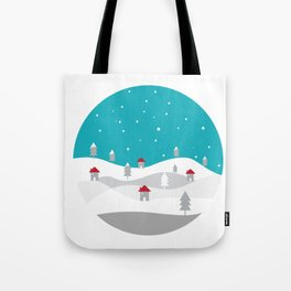 Xmas Winter White Christmas Scene, beautiful landscape winter Tote Bag