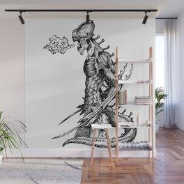 Fierce (Inktober 2017) Wall Mural