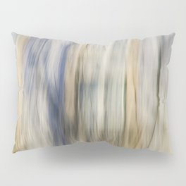 Soft Blue and Gold Abstract Pillow Sham