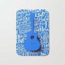 Lyrics & Type - Bon Iver - Skinny Love Bath Mat