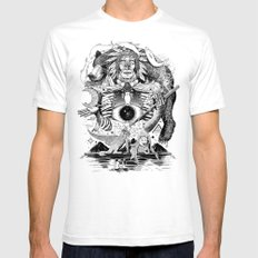 Dream Pipe White Mens Fitted Tee SMALL