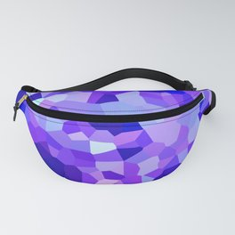 Modern Abstract Polygonal Purple Mosaic Fanny Pack