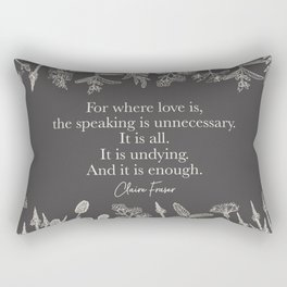 For where love is... Claire Fraser. Rectangular Pillow