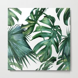 Simply Island Palm Leaves Metal Print