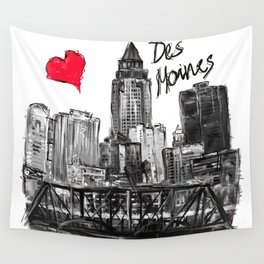 I love Des Moines Wall Tapestry