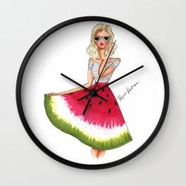 Watermelon Girl Wall Clock