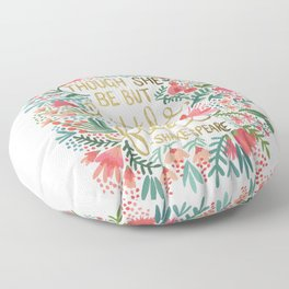 Little & Fierce Floor Pillow