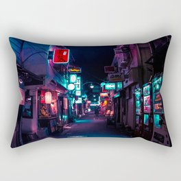 Late Night in Shinjuku's Golden Gai Rectangular Pillow