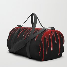 Blood Dripping Black Duffle Bag