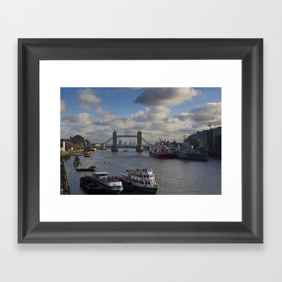 The River Thames Framed Art Print