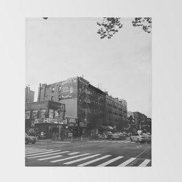 East Village Streets Throw Blanket