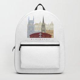 Blackburn skyline poster Backpack