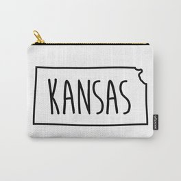 Kansas Type Map  Carry-All Pouch