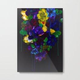 Drip Flowers - Botanical - Floral Metal Print