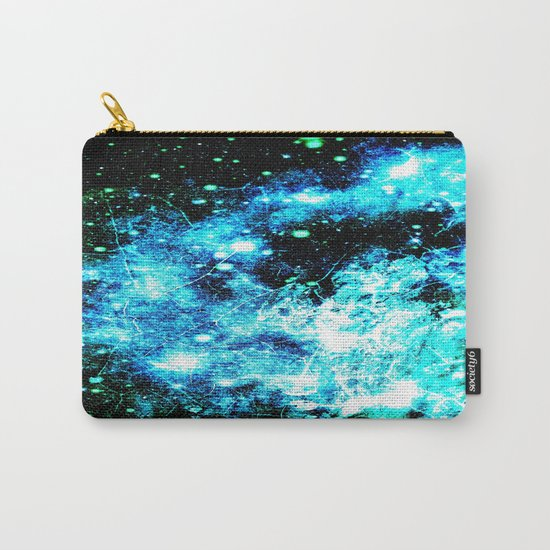 Chaotic Space :  gaLAxy Turquoise Aqua Gray Carry-All Pouch
