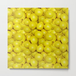 When life gives you lemons, make a pattern Metal Print