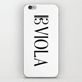 Viola with Alto Clef iPhone Skin