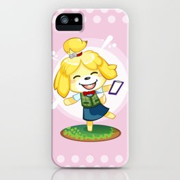 Isabelle Pink iPhone Case