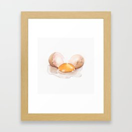 Color pencil Egg Framed Art Print