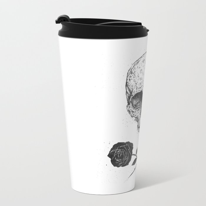 Skull N' Roses Metal Travel Mug