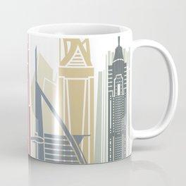 Dubai V2 skyline poster Coffee Mug