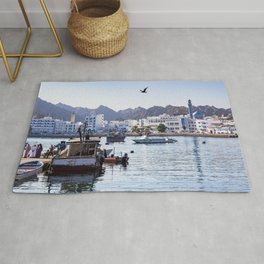 Muttrah Fish docks - Muscat, Oman Rug