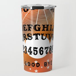 Halloween Theme Ouija Board Pattern (Black Text) Travel Mug