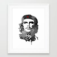 che Framed Art Prints featuring CHE by Rebecca Bear