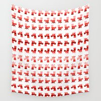 unicorns Wall Tapestries featuring Peppermint Unicorns by That's So Unicorny