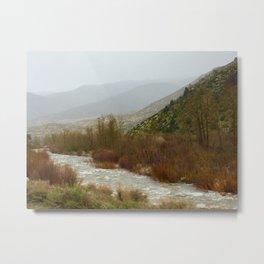 Misty morning riverside Metal Print