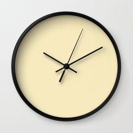 Lemon Meringue - solid color Wall Clock
