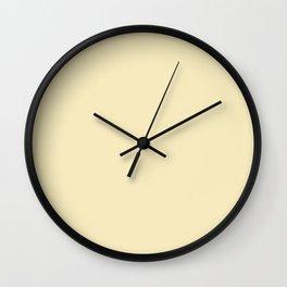 Lemon Meringue - solid color Wall Clock