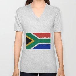 Extruded flag of South Africa Unisex V-Neck