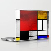 mondrian Laptop & iPad Skins featuring Luxury Mondrian by Dizzy Moments