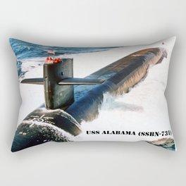 USS ALABAMA (SSBN-731) Rectangular Pillow