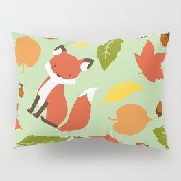 Fox Jumble - Sea Foam Pillow Sham