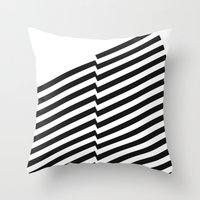 bands Throw Pillows featuring Blacknote Bands by blacknote