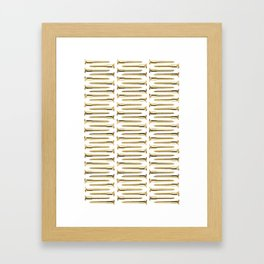 Golden Screws Pattern Poster Framed Art Print