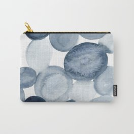 Pebbles Watercolor Abstract Carry-All Pouch