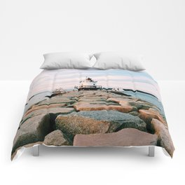 Spring Point Lighthouse Comforters