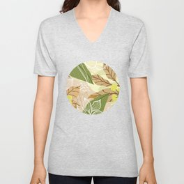 abstract tropical floral art pattern Unisex V-Neck