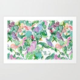 Botanical, Birds & Buildings Art Print