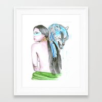 indie Framed Art Prints featuring Indie by Tamara Kajper