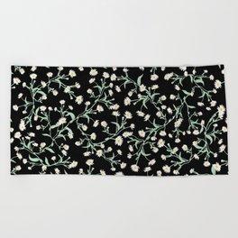 Oxeye (Black) Beach Towel