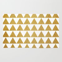 golden Area & Throw Rugs featuring Golden by Sandra Arduini