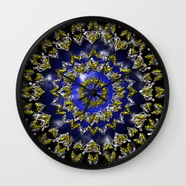 The Origin Gold and Silver With Plasma Wall Clock