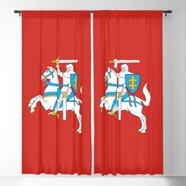 State Flag of Lithuania Knight On Red Blackout Curtain