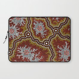 Aboriginal Art Authentic - Bushland Dreaming Ppart 2 Laptop Sleeve