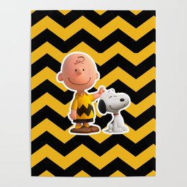 snoopy pattern claw Poster
