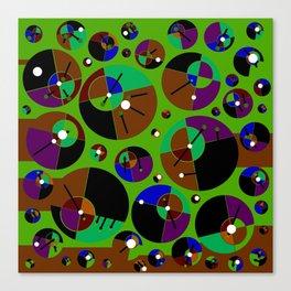 Bubble green black Canvas Print